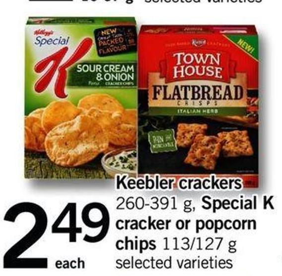 Keebler Crackers - 260-391 G Special K Cracker Or Popcorn Chips - 113/127 G