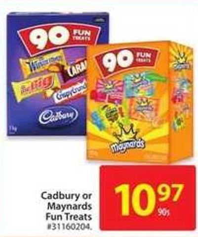 Cadbury or Maynards Fun Treats