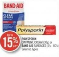 Polysporin Ointment - Cream (30g) or Band-aid Bandages (6's - 80's)