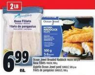 Ocean Jewel Breaded Haddock Frozen - 500 G Or Basa Fillets Frozen - 908 G