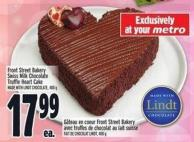 Front Street Bakery Swiss Milk Chocolate Truffle Heart Cake