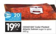 Cedar Bay Cedar Planked Atlantic Salmon - 20 Air Miles Bonus Miles