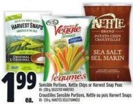 Sensible Portions - Kettle Chips Or Harvest Snap Peas 85 - 220 g