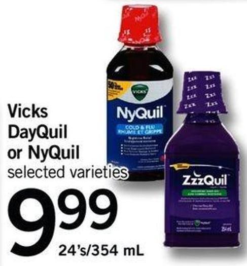 Vicks Dayquil Or Nyquil - 24's/354 Ml