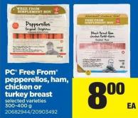 PC Free From Pepperellos - Ham - Chicken Or Turkey Breast - 300-400 g
