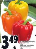 Red - Orange Or Yellow Sweet Peppers | Poivrons Rouges - Orange Ou Jaunes