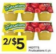 Mott's Fruitsations 6 Pk