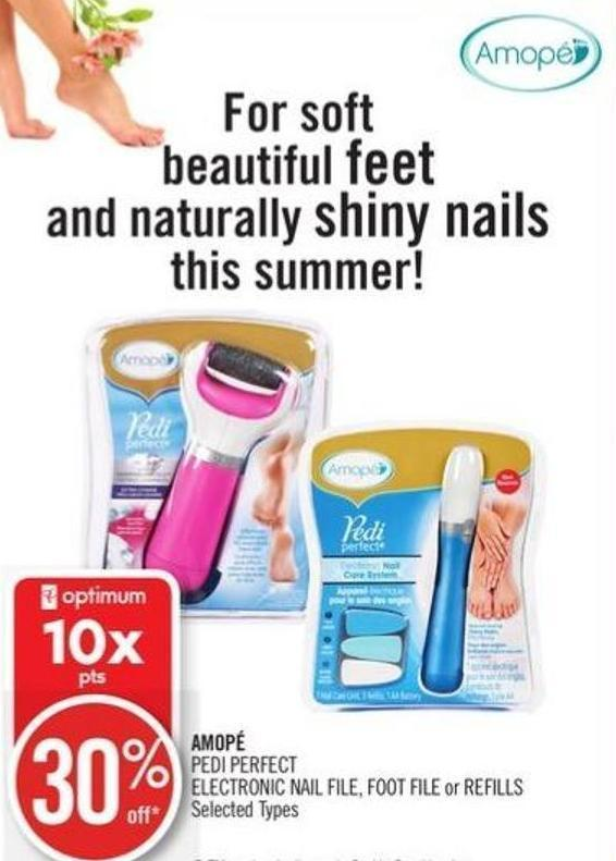 Amopé Pedi Perfect Electronic Nail on sale | Salewhale.ca