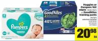 Huggies Or Pampers 16x Wipes - 1008-1152's or Goodnites Training Pants 24/32's