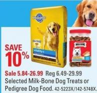 Selected Milk-bone Dog Treats or Pedigree Dog Food