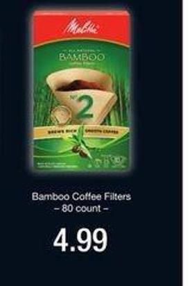 Bamboo Coffee Filters - 80 Count