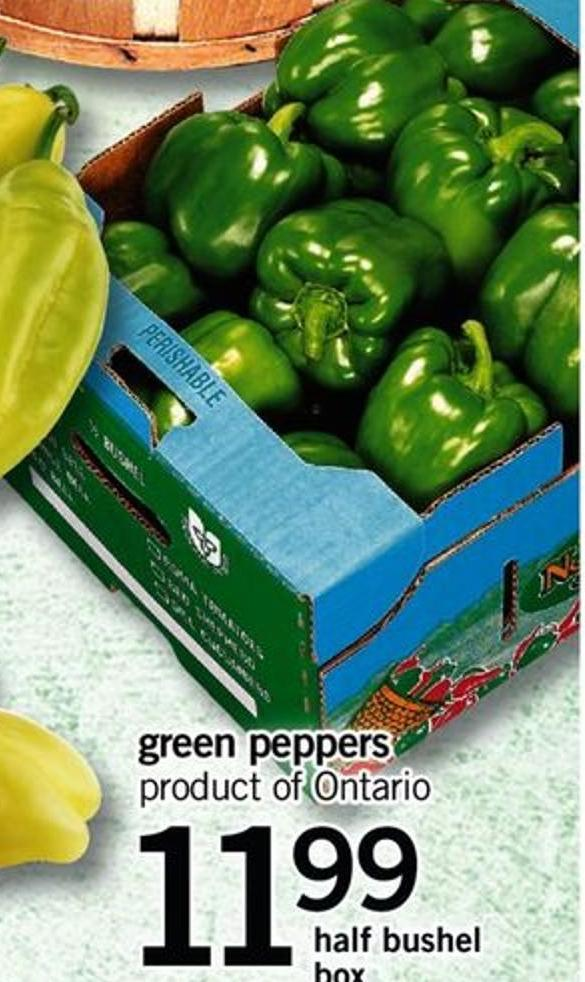 Green Peppers - Half Bushel Box