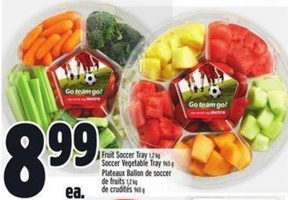 Fruit Soccer Tray 1.2 Kg Soccer Vegetable Tray 965 g