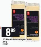 PC Black Label Cave-aged Cheddar - 200 g