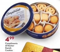Compliments All Butter Danish Cookies