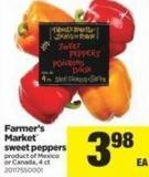 Farmer's Market Sweet Peppers - 4 Ct