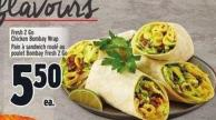 Fresh 2 Go Chicken Bombay Wrap
