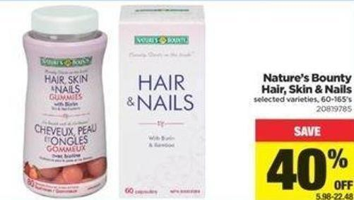 Nature's Bounty Hair - Skin & Nails - 60-165's