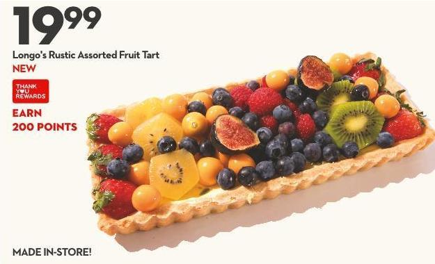 Longo's Rustic Assorted Fruit Tart