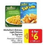 Michelina's Entrees. Light Entrees or Zap'ems