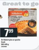 St-hubert Pies Or Quiche - 505-645 g