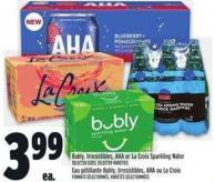 Bubly - Irresistibles - Aha Or La Croix Sparkling Water