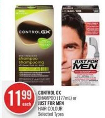Control Gx Shampoo (177ml) or Just For Men Hair Colour