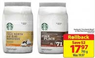 Starbucks True North Blend or Pike Place Ground Coffee