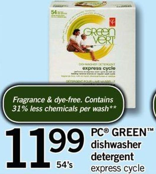 PC Green Dishwasher Detergent - 54's