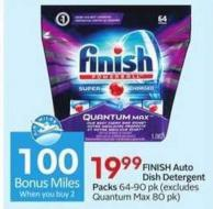 Finish Auto Dish Detergent Packs - 100 Air Miles