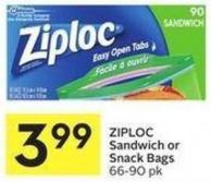 Ziploc Sandwich or Snack Bags