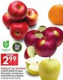Product Of Ontario Compliments Gala - Mcintosh - Cortland or Gold Delicious Apples Canada Extra Fancy