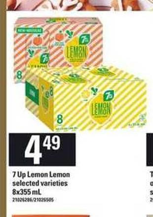7 Up Lemon Lemon - 8x355 mL