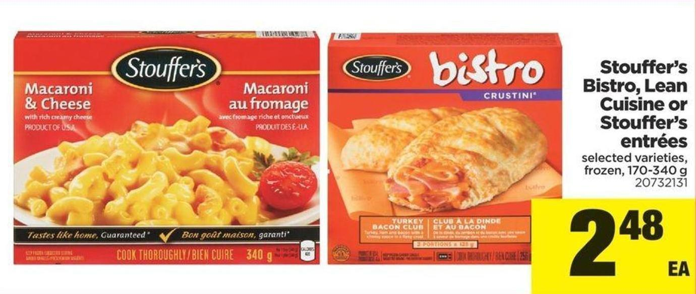 Stouffer's Bistro - Lean Cuisine Or Stouffer's Entrées - 170-340 g