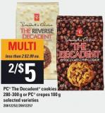 PC The Decadent Cookies 280-300 G Or PC Crepes - 100 G
