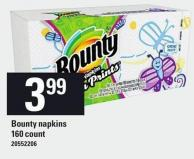Bounty Napkins - 160 Count