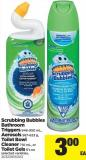 Scrubbing Bubbles Bathroom Triggers - 946-950 Ml - Aerosols - 567-623 G - Toilet Bowl Cleaner - 710 Ml - Or Toilet Gels - 6's Ea