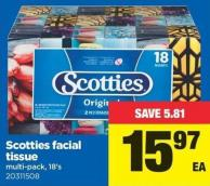 Scotties Facial Tissue Multi-pack - 18's