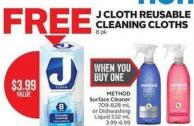 Method Surface Cleaner 709-828 mL or Dishwashing Liquid 532 mL 3.99-6.99