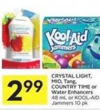 Crystal Light - Mio - Tang - Country Time or Water Enhancers 48 mL or Kool-aid Jammers 10 Pk