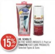 Dr. Scholl's Active Series Insoles (1 Pair) or Tinactin Foot Care Products
