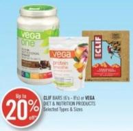 Clif Bars (6's - 8's) or Vega Diet & Nutrition Products