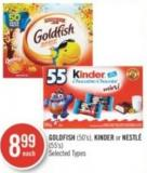 Goldfish (50's) - Kinder or Nestlé (55's)