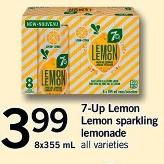 7-up Lemon Lemon Sparkling Lemonade