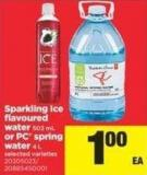 Sparkling Ice Flavoured Water - 503 Ml Or PC Spring Water - 4 L