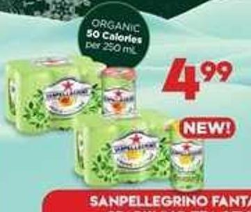 San Pellegrino Fantasia Or Organic Sparkling Tea Beverage - 6x250 Ml