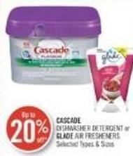 Cascade Dishwasher Detergent or Glade Air Fresheners