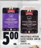 Irresistibles Artisan Sliced Chicken - Ham Or Turkey Gluten Free