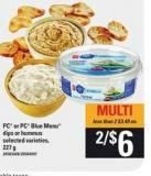 PC Or PC Blue Menu Dips Or Hummus - 227 g