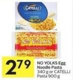 No Yolks Egg Noodle Pasta 340 g or Catelli Pasta 900 g